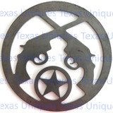 Buy Metal Cut Out Of Pistols & Star Online Store