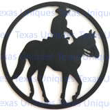 Buy Metal Cut Out Of Horse & Rider Metal Art Online