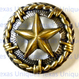Star With Barbwire Concho