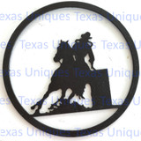 Buy Metal Cut Out Of Barrell Racer Store