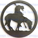 Buy Metal Cut Out Of End Of The Trail Metal Art Shop