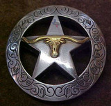 Buy Longhorn & Star With Engraved Border Concho