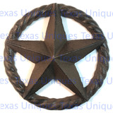 6-1/2 Inch Cast Iron Star In rope Circle