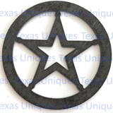 Metal Art Cut Out Of Texas Star