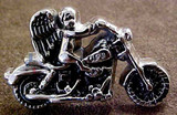 Motorcycle And Angel Concho