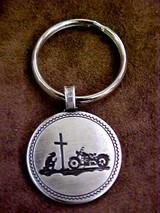 Biker At The Cross Key Fobs
