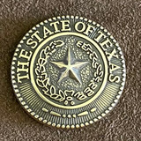 State Of Texas Seal Antiqued Concho
