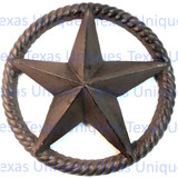 10-1/2 Inch Cast Iron Star In rope Circle