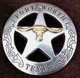FORT WORTH Texas Star Longhorn Concho