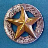 Star Concho Engraved Border 1-1/4""
