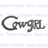 Metal Cut Out Cowgirl
