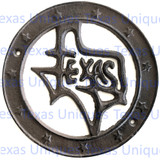 Metal Cut Out Of State Of Texas