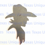 Western Cowboy Metal Art Cut Out