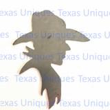 Western Cowboy Metal Art Cut Out