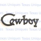 Metal Cut Out Cowboy