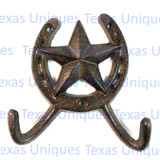Western Star Horseshoe Coat Hooks