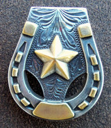 Horseshoe Star Concho