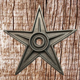 9 Inch Cast Iron Architectural Star - Front View