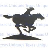 Metal Cut Out Of Pony Express Metal Art