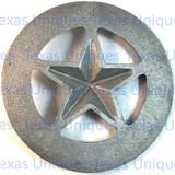 Texas Cast Iron Star Wall Metal Art Plaque