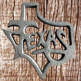 State Of Texas Cut Out Cast Iron - Front View
