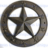 10-1/2 Inch Cast Iron Texas Star Plaque