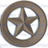 10-1/2 Inch Cast Iron Texas Star Plaque