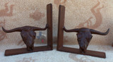 Texas Longhorn Book End