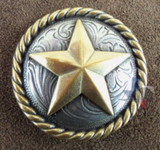 Texas Star & Rope Conchos