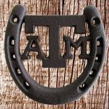 Texas A & M Horseshoe Plaque - Front View