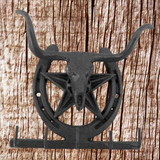 Cast Iron Rustic Finish Horse Wall Plaque