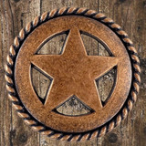 Texas Western Star Cabinet Hardware Knobs - Front View