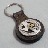 Texas Key Fob Brown Leather
