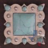 Bling Green Turquoise Concho