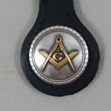 Masonic Key Fob Black