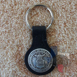 Military Key Fob United States Air Force Black Leather