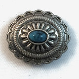 Southwest Oval Turquoise Antique Nickel Concho