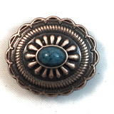 Southwest Oval Turquoise Antique Copper Finish Concho