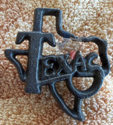 Texas Cut Out With Nail Cast Iron Texas Metal Art