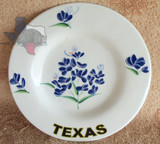 Western Decor Texas Bluebonnet Plate