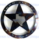 GOD BLESS TEXAS METAL ART WALL DECOR