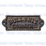 Western Signs & Plaques Bull____ Corner Plaque Rustic Decor