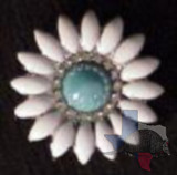 Turquoise Bling Daisy Concho