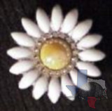 Yellow Bling Daisy Concho