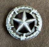Silver Star With Barbwire Concho