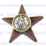 Western Decor Cowgirl Barrell Racer Star Magnet
