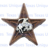 Western Decor Cowboy Saddle Bronc Star Magnet