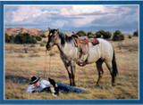 ART-TC-00010  Western Cowboy With Horse Print