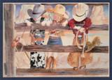 ART-LL-00003  Western Little Cowboy and Cowgirl Children Print