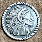 INDIAN CHIEF PROFILE RIGHT MOTORCYCLE CONCHOS
